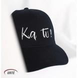 """Siuvinėta kepurėlė """"Ką tu?"""""""