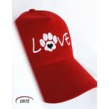 """Siuvinėta kepurėlė """"Myliu šuniukus"""""""