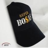 """Siuvinėta kepurėlė """"Super BOSAS"""""""