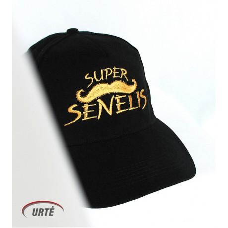 """Siuvinėta kepurėlė """"Super ūsai"""""""