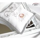 Karališka sidabrinė pagalvėlė vestuviniams žiedams