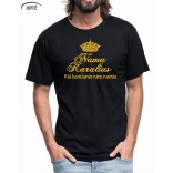 """Siuvinėti marškinėliai """"Namų Karalius"""""""