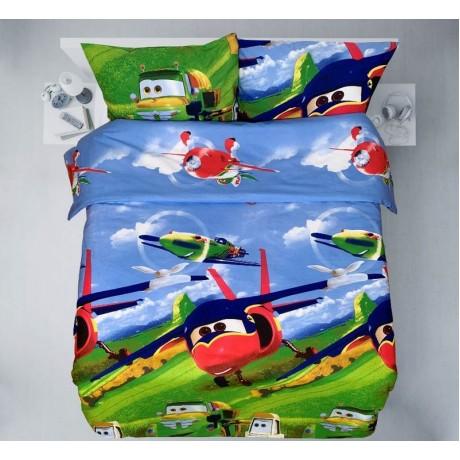"""Vaikiška medvilninė patalynė """"Lėktuvo sparnai"""""""