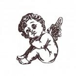 """Siuvinėtas rankšluostis """"Angelėlis"""""""