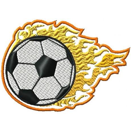 "Siuvinėtas rankšluostis ""Futbolo kamuolys"""