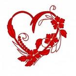 """Siuvinėtas rankšluostis """"Gėlių širdis"""""""