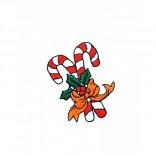 """Siuvinėtas rankšluostis """"Kalėdiniai saldainiukai"""""""