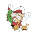 """Siuvinėtas rankšluostis """"Kalėdų senelis"""""""