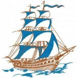 """Siuvinėtas rankšluostis """"Burinis laivas"""""""