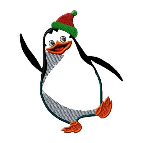 """Siuvinėtas rankšluostis """"Linksmuolis pingvinas"""""""