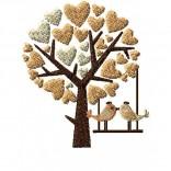 """Siuvinėtas rankšluostis """"Meilės paukštukai"""""""