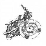 """Siuvinėtas rankšluostis """"Motociklas"""""""