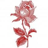 """Siuvinėtas rankšluostis """"Rožė"""""""