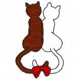 """Siuvinėtas rankšluostis """"Susiglaudusios katės"""""""