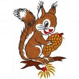 """Siuvinėtas rankšluostis """"Voverytė"""""""