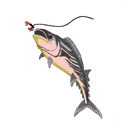 """Siuvinėtas rankšluostis """"Žvejo svajonė"""""""